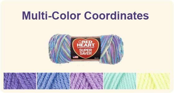 Red Heart Multi Color Coordinates Color Theories