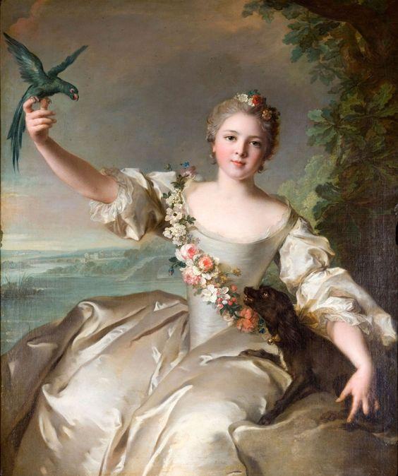 Mathilde de Canisy, the portrait of Jean-Marc Nattier Paris, 1685 - Paris, 1766: