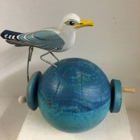 Pecking Seagull por OPISHOP en Etsy