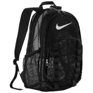 Nike Brasilia 7 XL Mesh Backpack - Black/Black/White