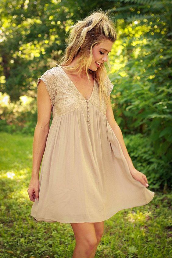 Always On My Mind Lace Babydoll Dress
