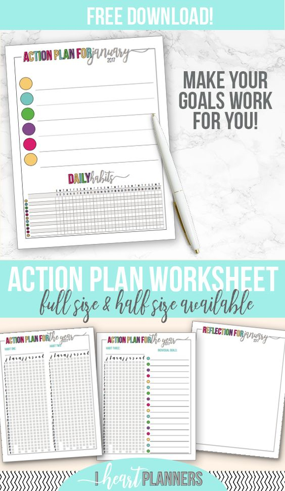 3-Month Goals Action plan Free printable worksheet to help you - free action plans