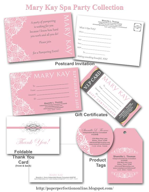 Paper perfection mary kay spa party printables www for Mary kay invite templates