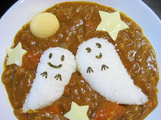 Halloween Curry and Rice