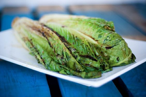 Grilled romaine, I'm trying this with lemon squeezed over it! LOVE