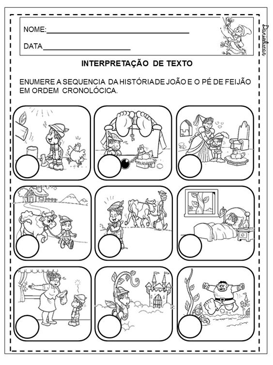 Dani Educar : Atividades sequencia da história João e o pé de ...