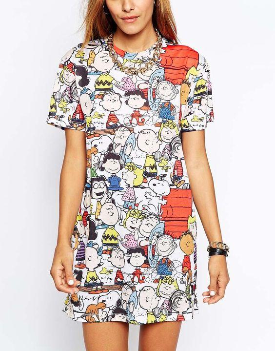 Bild 3 von Criminal Damage – Boyfriend-T-Shirt in langer Passform mit Snoopy-Character-Print