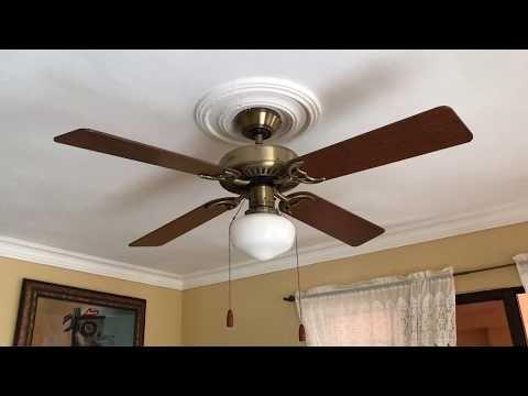 Installation Of Hunter Coastal Breeze Ceiling Fan Youtube Ceiling Fan Coastal Breeze Ceiling