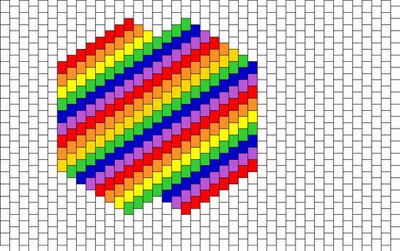 Rainbow Mask Bead Pattern