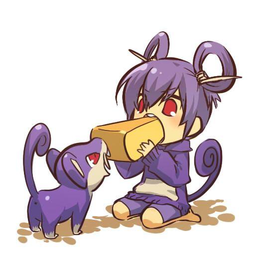 human version gijinka pokemon, rattata: