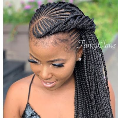 Latest Ghana Weaving Styles 2020 Most Trending Hair Styles For Ladies In 2020 Cornrow Hairstyles African Hair Braiding Styles African Braids Hairstyles
