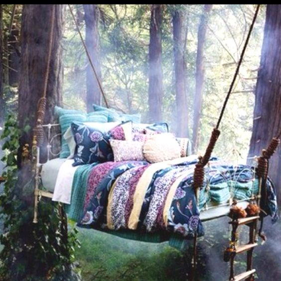 Tree house bed. You're lying..