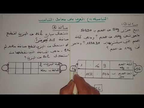 رياضيات تعرف على التناسبية 1 ومعامل التناسب الخامس والسادس ابتدائى Youtube Math Boarding Pass Travel
