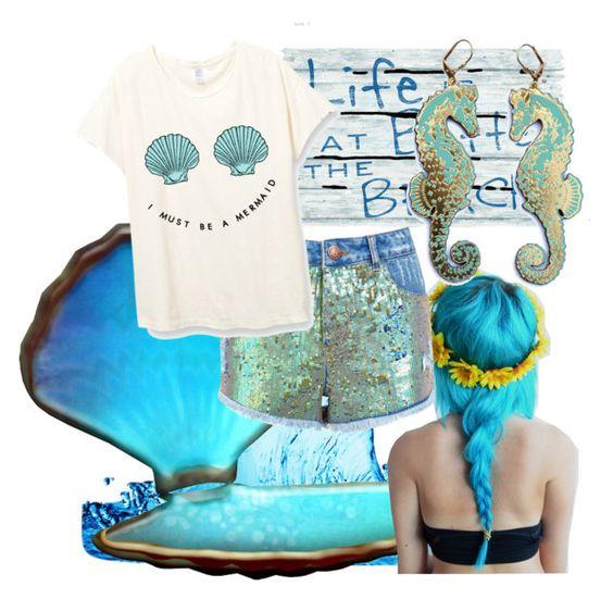 """""""blue mermaid"""" by merypinkmermaid ❤ liked on Polyvore featuring Miss Selfridge and Rosita Bonita"""