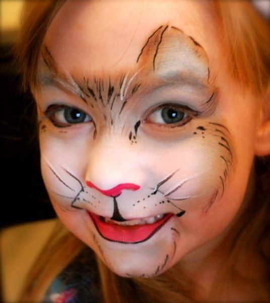 Kat schmink / face paint Cat www.hierishetfeest.com