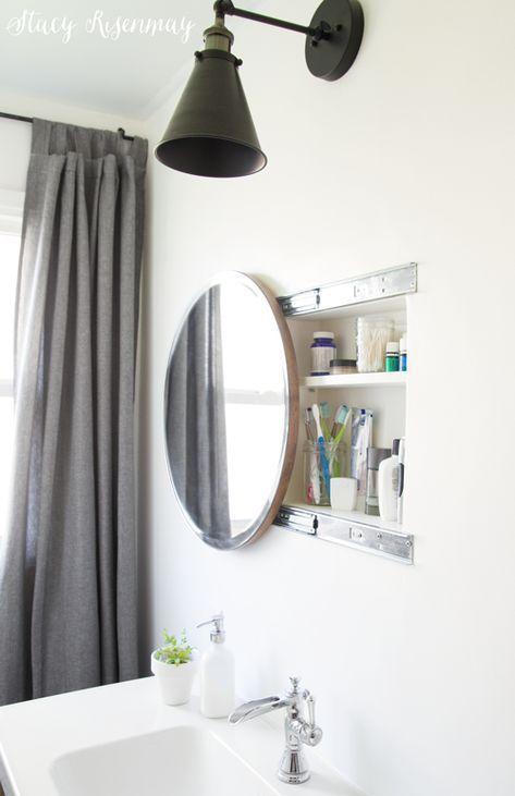Runder Schiebebadezimmerspiegel Runde Badezimmerspiegel