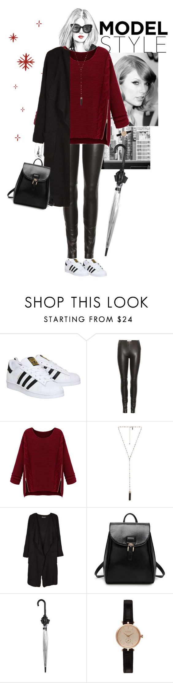 """""""Style #11"""" by blueonyx25 ❤ liked on Polyvore featuring moda, adidas, Maison Margiela, WithChic, Natalie B, Relaxfeel, Topshop y Barbour"""