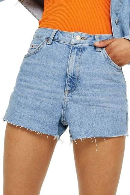 Topshop Moto Women/'s Mom Authentic High Waisted Shorts Size 6