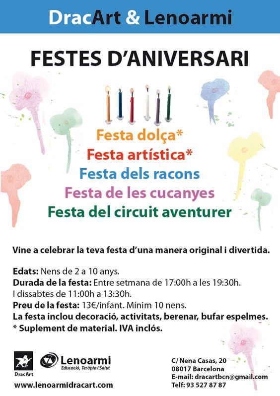 Festes d'aniversari originals DracArt & Lenoarmi. Fiestas originales en barcelona.