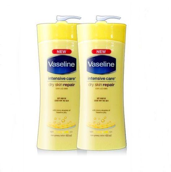 New Vaseline Intensive Care Dry Skin Repair 450ml Non Greasy Lotion 8801619046197
