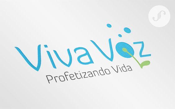 """Identidade Visual criada para o ministério cristão Viva Voz. Letra """"o"""" indicando um dente de leão, que é o símbolo do ministério. #juliafelixdesign"""