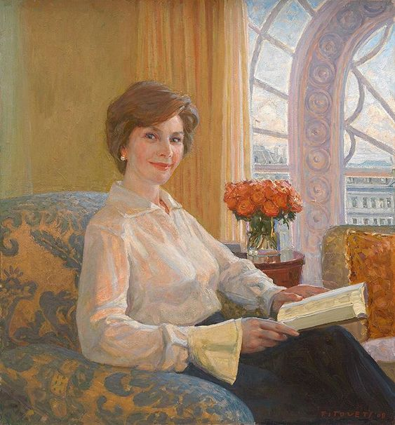 From first grade to First Lady, Laura Bush's passion for education, literacy and women's health never wavers #WomensHistoryMonth 🎨:…