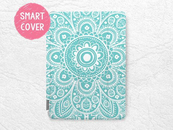 Aztec Floral pattern Smart Cover for iPad Mini, iPad Mini 4, tribal iPad Mini 2 retina, iPad Mini 3 Smart cover with back case -P24