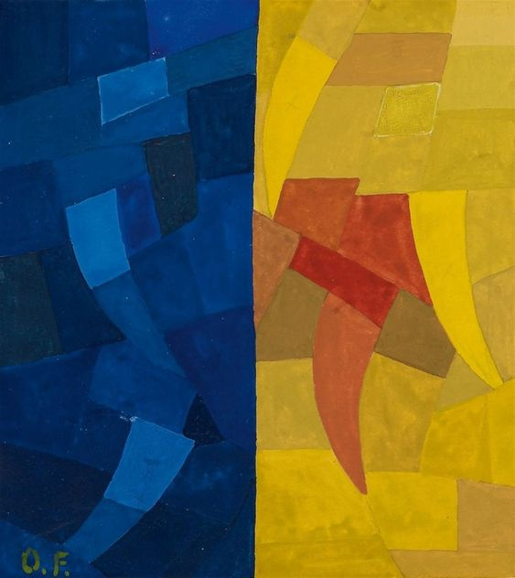 Otto Freundlich, Composición, 1935, 932 Subasta Arte Moderno, Lote 129
