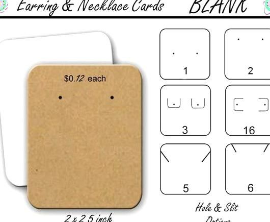 Earring Card Template Free Awesome Blank Jewelry Cards Earring Cards Necklace Cards Earring Earring Cards Template Earring Cards Jewelry Card