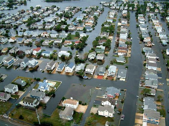 Homes in Fenwick Island, Del. are surrounded by floodwaters from Hurricane Sandy on Tuesday, Oct. 30, 2012. Officials said Fenwick Island and nearby Bethany Beach appeared to be among the hardest-hit parts of the state. (AP Photo/Randall Chase)