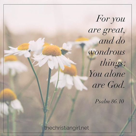 God is the God of wondrous things! He can make a way where there is no way! He is the God of miracles. He is the God of the magnificent! He is the one that intervenes and turns situations around for good. He is worthy to receive all of the glory.