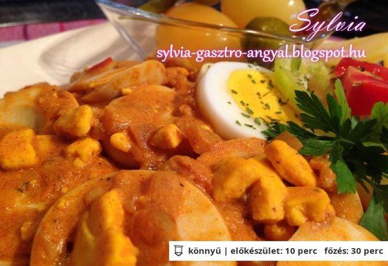 Tojáspörkölt Sylvia Gasztro Angyal konyhájából