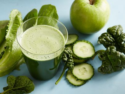 Super Green Juice: This pretty emerald juice is a great way to use up greens you may have sitting in the fridge. It's also a good source of both vitamins C and K.