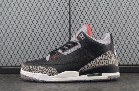 2020 的 Air Jordan 3 Retro Black Cement 2018 854262 001 主题