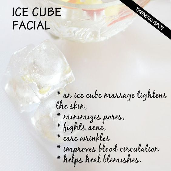 Ice Cube Facial – keep acne and wrinkles at bay