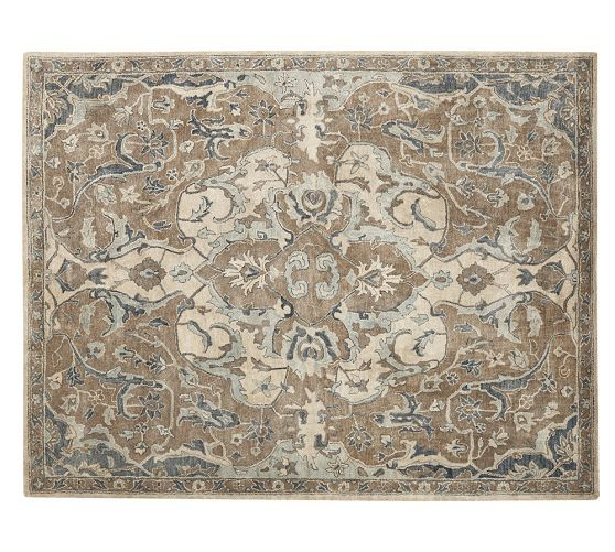 Nolan Persian Style Rug Neutral Pottery Barn Formal