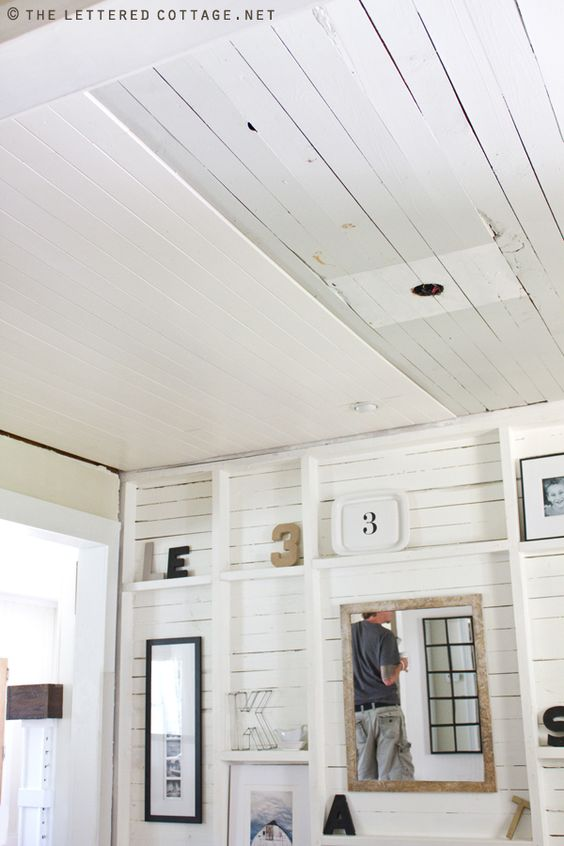 Wood Ceilings Plank Ceiling And Diy Wood On Pinterest