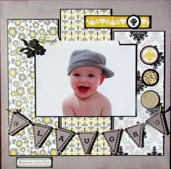 Baby boy page layout
