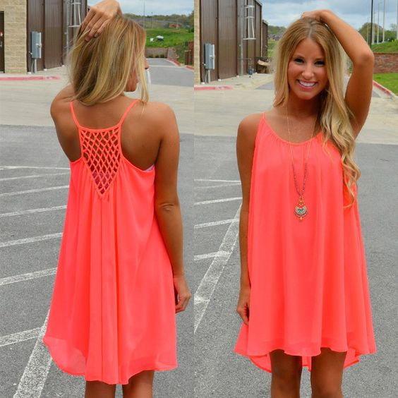 HOT Cool Chiffon Summer Dress S-3XL 3 Colors - Pinterest - Woman ...
