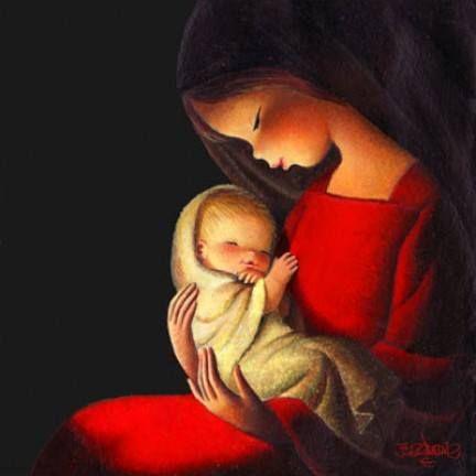 La Santísima Virgen y el Niño Jesús