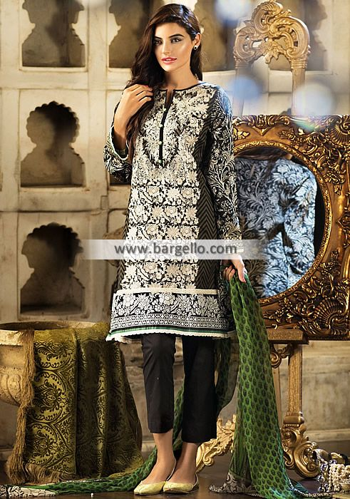 WL9171 Designer Spring Summer Collection Khaadi Lawn Eid Collection 2015 - UK USA Canada Australia Saudi Arabia Bahrain Kuwait Norway Sweden New Zealand Austria Switzerland Germany Denmark France Ireland Mauritius and Netherlands