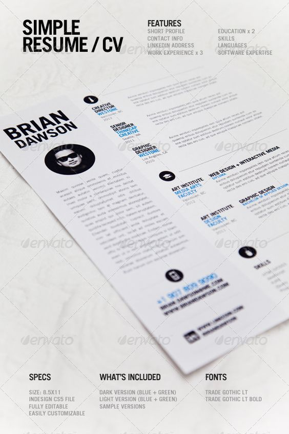 simple resume   simple resume  resume and simplea simple  clean resume template perfect for designers  light and dark versions included
