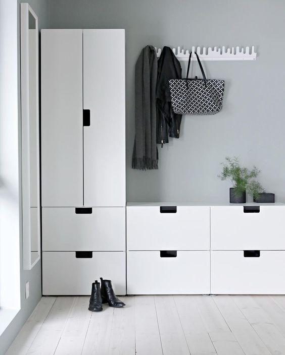 Idea for the hallway - Ikeas Stuva kids collection:
