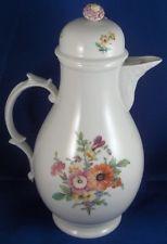Rare 18thC Fuerstenberg Porcelain Floral Coffee Pot Porzellan Kaffee Kanne Blume