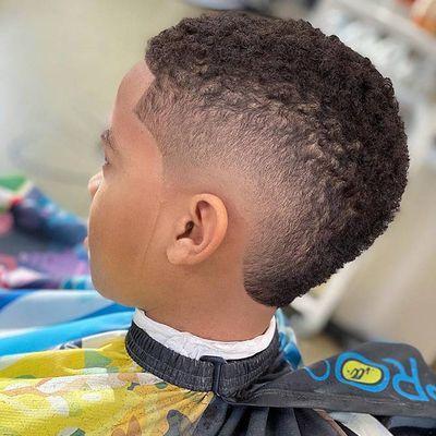 Mohawk Fade Black Boys Haircuts