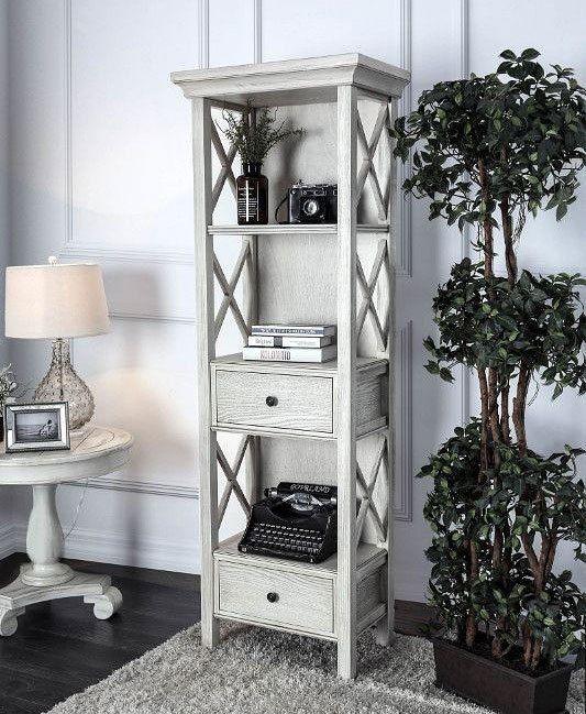 Georgia Pier Cabinet Wood Bookcase Furniture Of America Furniture