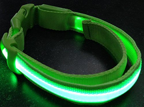 Small #LED PET Glow #Collar Dog Cat Night Safety Lead Adjustable #Harness Flash Light up