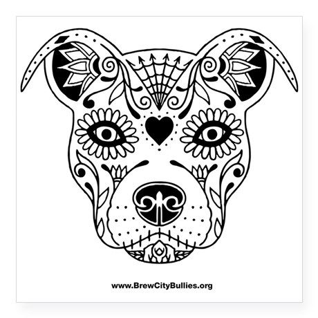 Gallery For gt Sugar Skull Dog Drawing