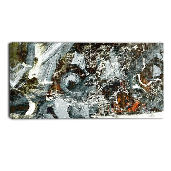 Contemporary Abstract Design Graphic Art on Wrapped Canvas