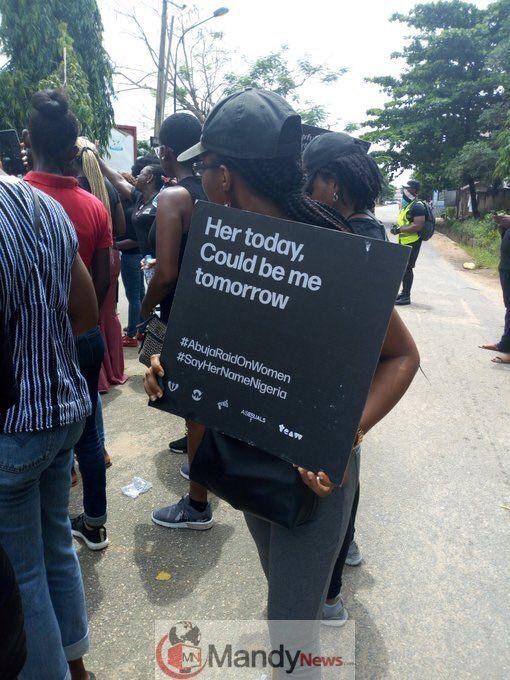 Sayhernamenigeria Protest Rocks Abuja Lagos Over Police Raid On Women Photos Abuja